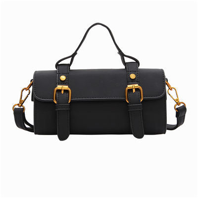 Sana PU Leather Barrel-shaped Handbag