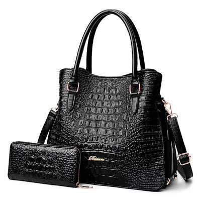 Bo Alligator 2 Pcs Purse Bag