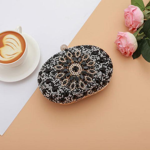 Image of Nuha Crystal Evening Bag with Rhinestones