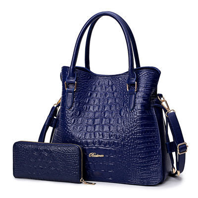Image of Bo Alligator 2 Pcs Purse Handbag
