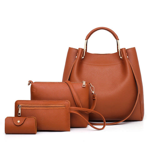 Açucena 4 Set/Pcs PU Leather Bucket Handbag