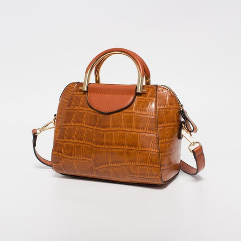 Image of Janiyah Leather Shoulder Small Tote Handbag