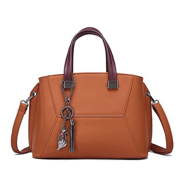 Kassandra Leather Shoulder Portable Handbag