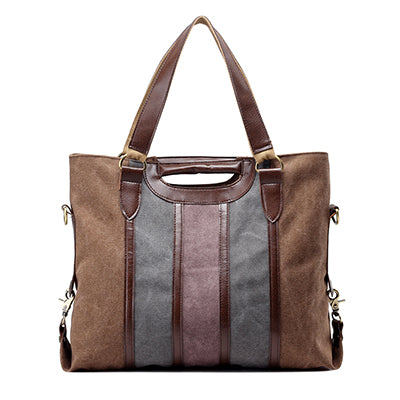Mamert Canvas Panelled Large Capacity Handbag