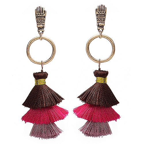 Mindra Long Tassel Earrings