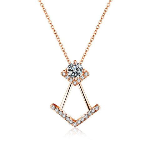 Image of Jinkie Clear AAA Zircon Necklace