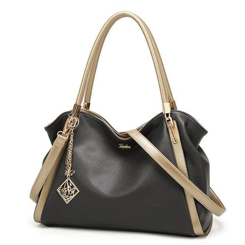 Image of Jasmine PU Leather Zipper Large Handbag