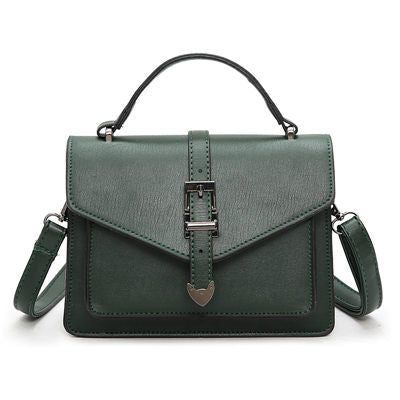 Gyslaine Small Flap Metal Lock Handbag
