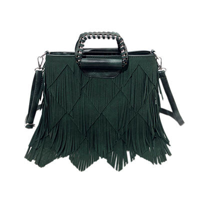 Giselene Tassel Pu Leather Handbag