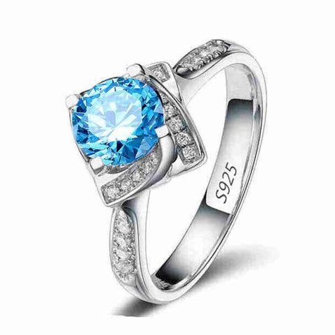 Women's White Gold Color wedding AAA Zircon Jewelry luxury bague trendy bijoux Engagement rings Size 6 7 8 9 MSR095