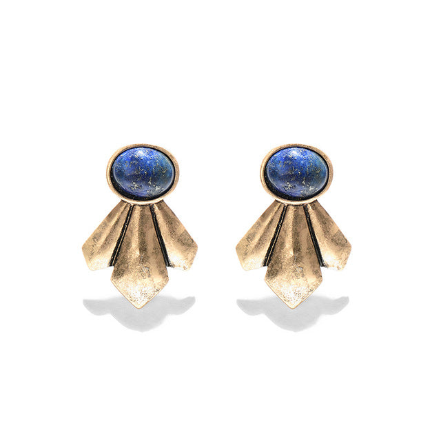 Chinmayi Bohemian Geometric Stud Earrings