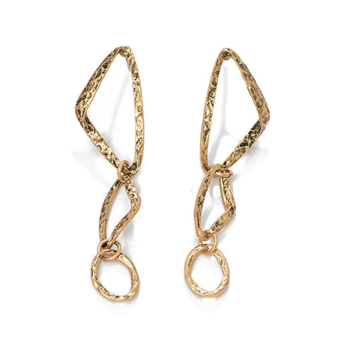 Arya Alloy Triangle Long Earrings