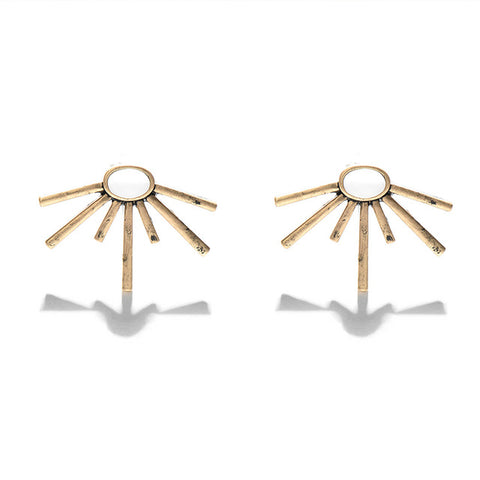 Chandana Vintage Geometric Stud Earrings