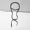 Image of Clara Black Suede Choker Necklace
