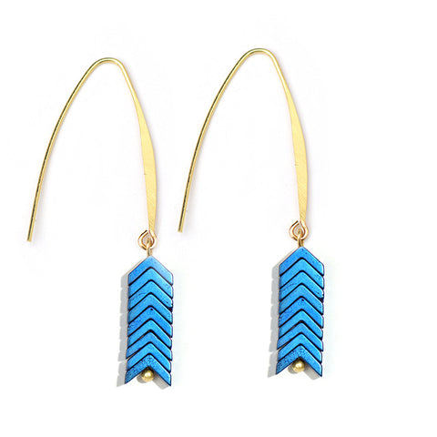 Image of Elina Stone Dangle Earrings