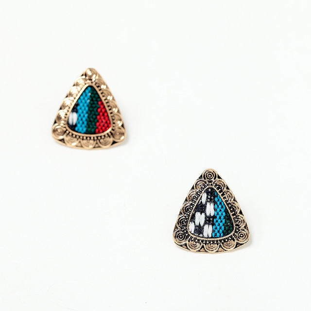 Alouette Triangle Stud Earrings
