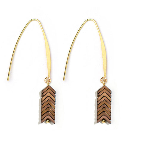 Elina Stone Dangle Earrings