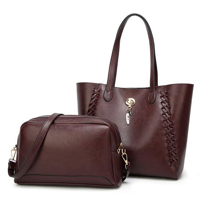 Egypt 2 Set High-Quality Pu Leather Shoulder Handbag