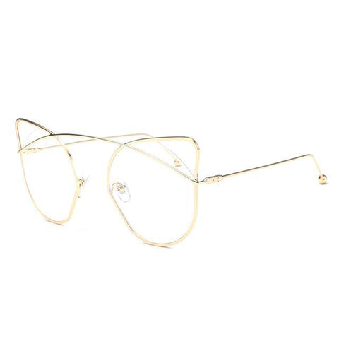 Eloise Vintage Mirror Cat Eye Sunglasses