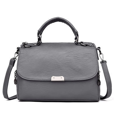 Image of Carmo Leather Metal Cover Messenger Handbag