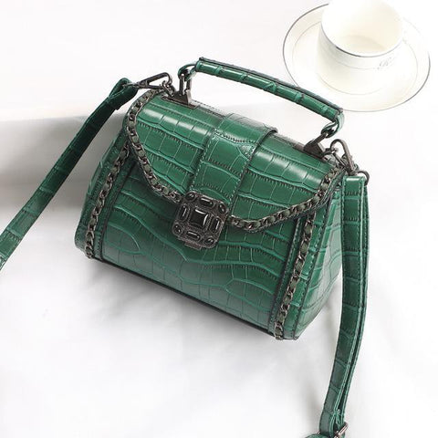 Image of Niah Alligator Messenger Handbag