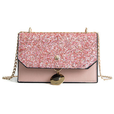 Image of Honoree Sequins Metal Lock Handbag