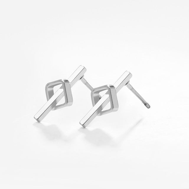 Indira Geometric Small Stud Earrings