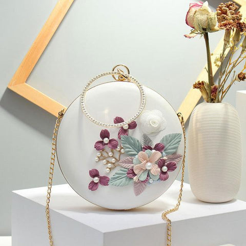 Image of Ahan Circular Shaped Metal Beading Clutch