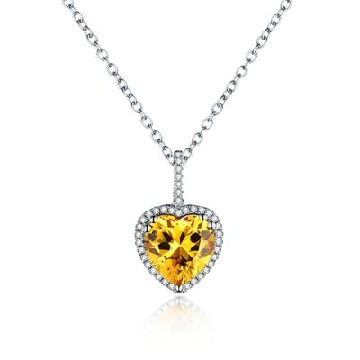 Image of Avignon Heart AAA Zircon Necklace