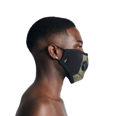 Khaki Technical Nylon Face Mask