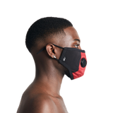 Red Technical Nylon Face Mask
