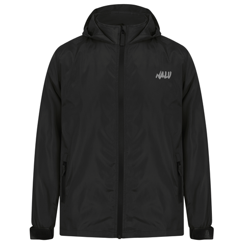 Black Technical Nylon Shell Jacket