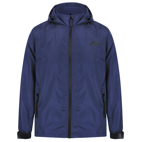 Navy Technical Nylon Shell Jacket