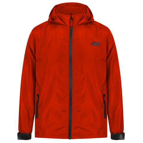 Red Technical Nylon Shell Jacket