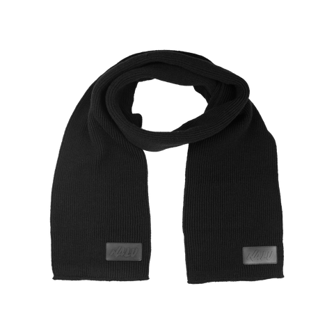 Triple Black Ribbed Scarf