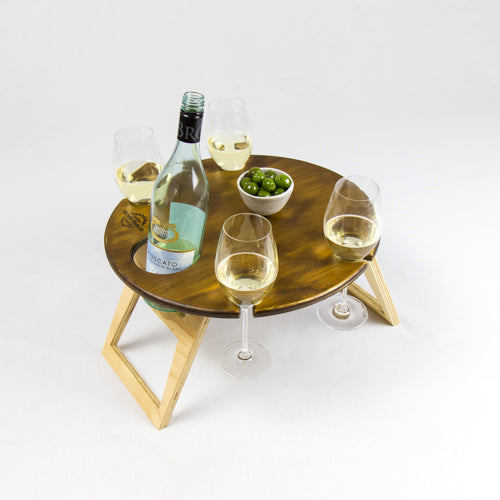 Round Chocolate 2-Tone Folding Table