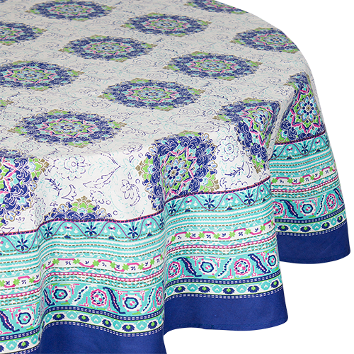 Round Mallorca Tablecloth