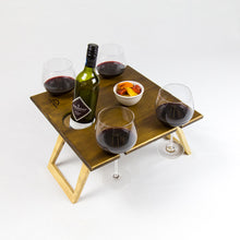 Load image into Gallery viewer, Square Chocolate 2-Tone Folding Picnic Table