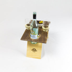 Petite 2 Tone Folding Wine Table