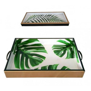 Green Palm Trays
