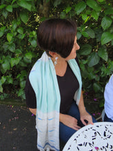 Load image into Gallery viewer, Ivys White & Blue Pearl Scarf