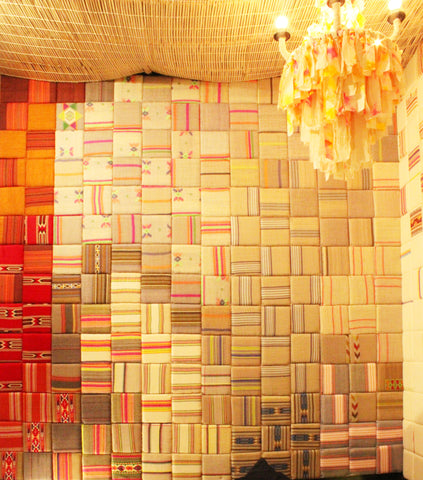 Sihasn's fabric wall-paneling at India Design Week 2020