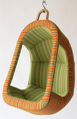 Mowgli - a children's swing by Sihasn with a bamboo structure and Telengana khadi cotton upholstery