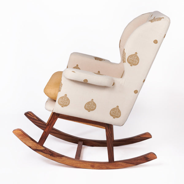Assam Eri Silk-Cotton Rocking Chair - Sihasn