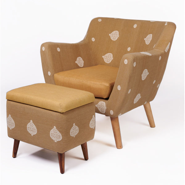 Assam Muga Silk-Cotton Armchair