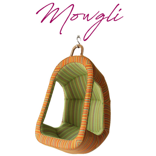 Mowgli - Children Swing of Bamboo Structure Upholstered with Telengana Khadi Cotton