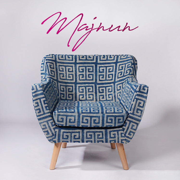 Maze Patterned Dhurrie Armchair