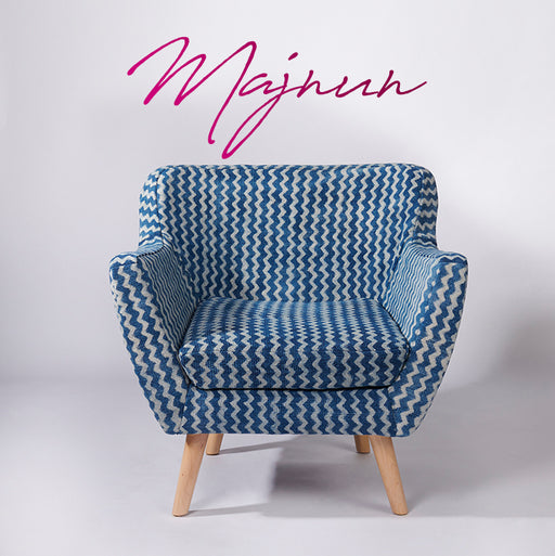ZigZag Patterned Dhurrie Armchair