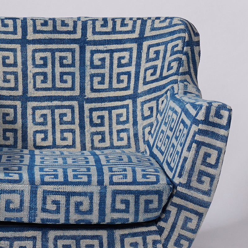 Maze Patterned Dhurrie Armchair - Sihasn
