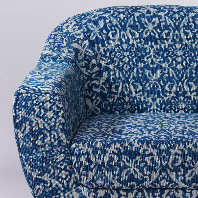 Ornate Patterned Dhurrie Accent Chair